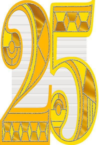 Art Deco 25th Birthday Card Greeting Cards Hallmark