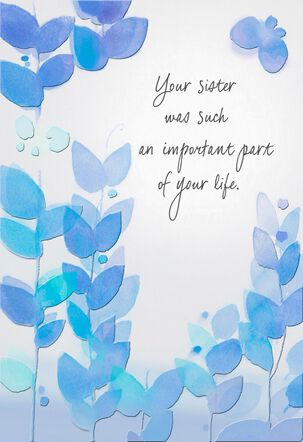 Missing Your Sister Sympathy Card