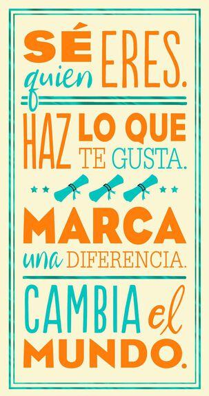 No Limits Spanish-Language Graduation Card
