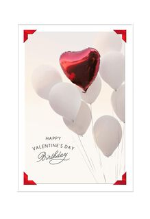 Birthday Balloons Valentine's Day Card,