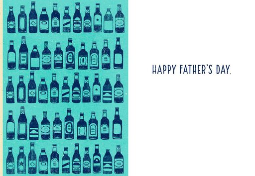 Beer Bottle Cap Father's Day Card,
