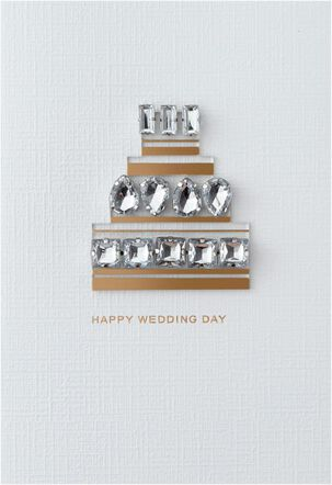 Bejeweled Cake Wedding Card