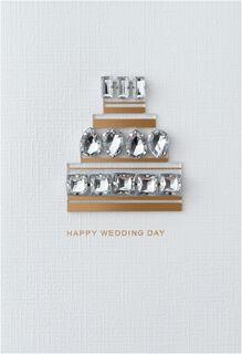 Bejeweled Cake Wedding Card,