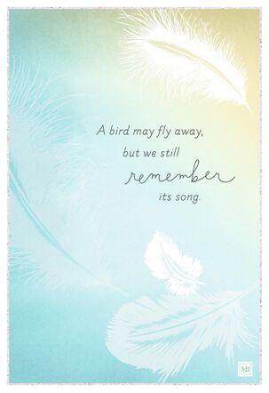 Celebrating a Life Marjolein Bastin Sympathy Card