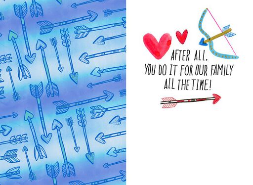 Arrows, Hearts and Wings Valentine's Day Card,