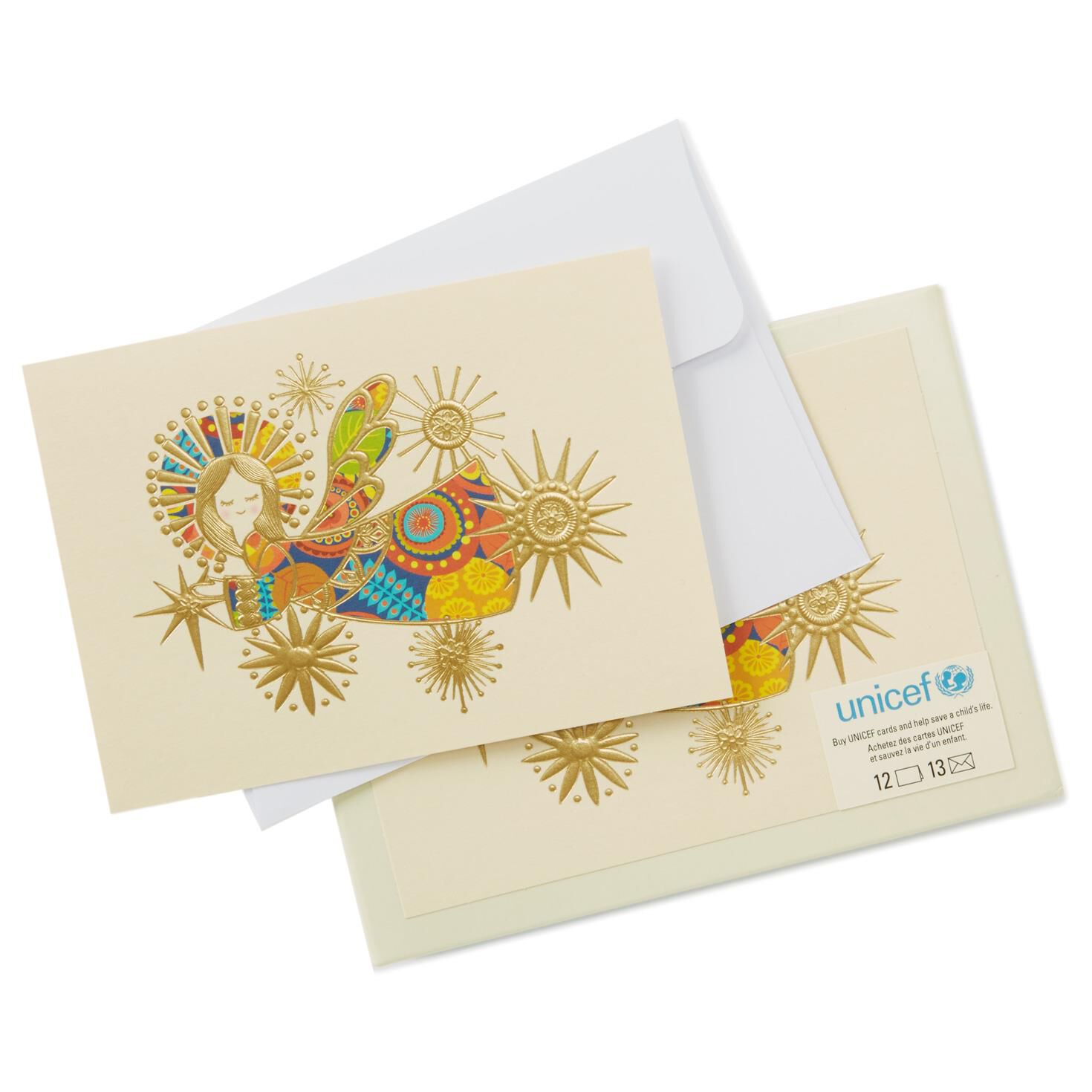 UNICEF Goodwill Angel Patchwork Holiday Note Cards, Pack of 12 ...