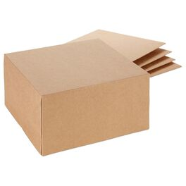 Kraft Square Gift Boxes, Pack of 5, , large