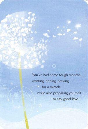 Blue Dandelion Sympathy Card