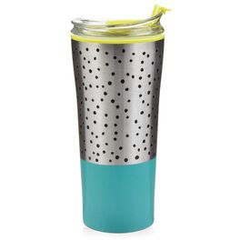Stainless Steel Blue Tumbler, 16 oz., , large