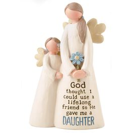 Mother and Daughter Religious Angel Figurine, , large