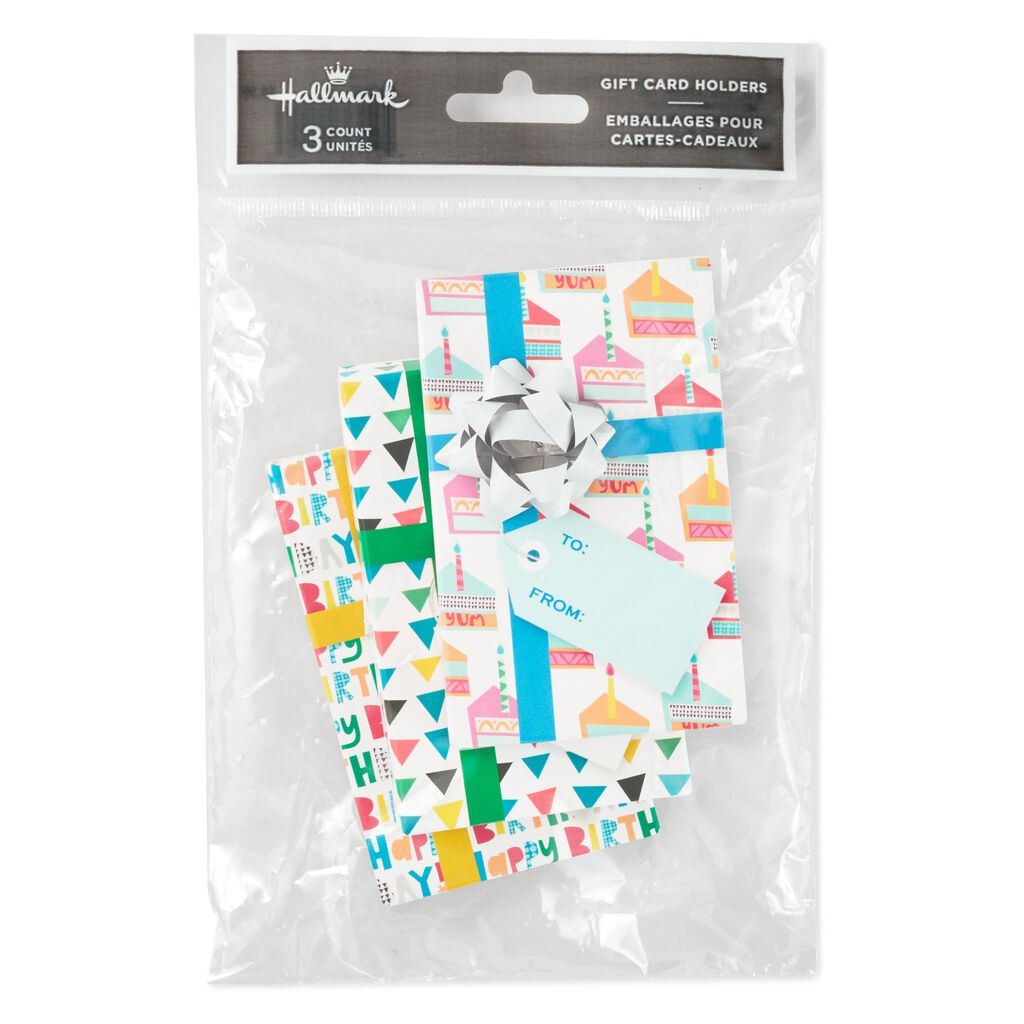 Assorted Birthday Gift Card Holder Boxes Pack Of 3
