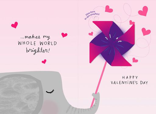 Spinning Pinwheel Musical Valentine's Day Card,