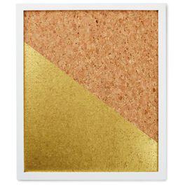 Metallic Gold and Cork Pin Board, , large