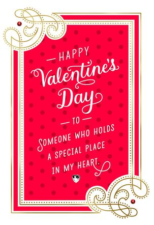 Special Place in My Heart Valentine's Day Card