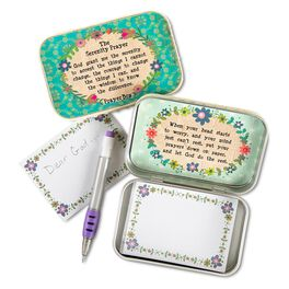 Natural Life Tin Prayer Box Serenity Prayer, , large