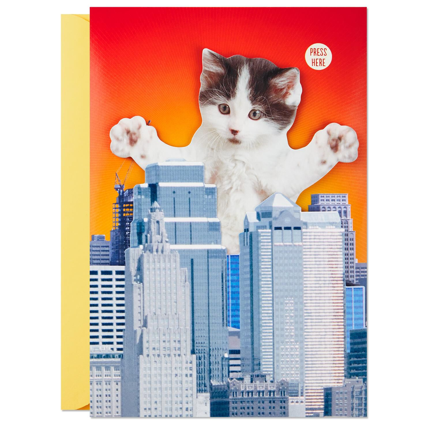 Epically Cute Kitten Birthday Card With Sound And Motion Greeting Cards Hallmark Kittens Meow Jpg 1470x1470