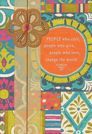 Pretty Mosaic Retirement Card