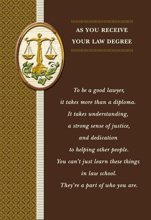 Law Degree Graduation Card