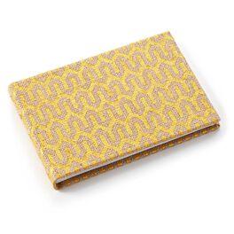 Gold Foil Burlap Slim Photo Album, , large