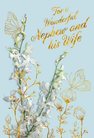 Wishing You Love Wedding Card for Nephew and Wife