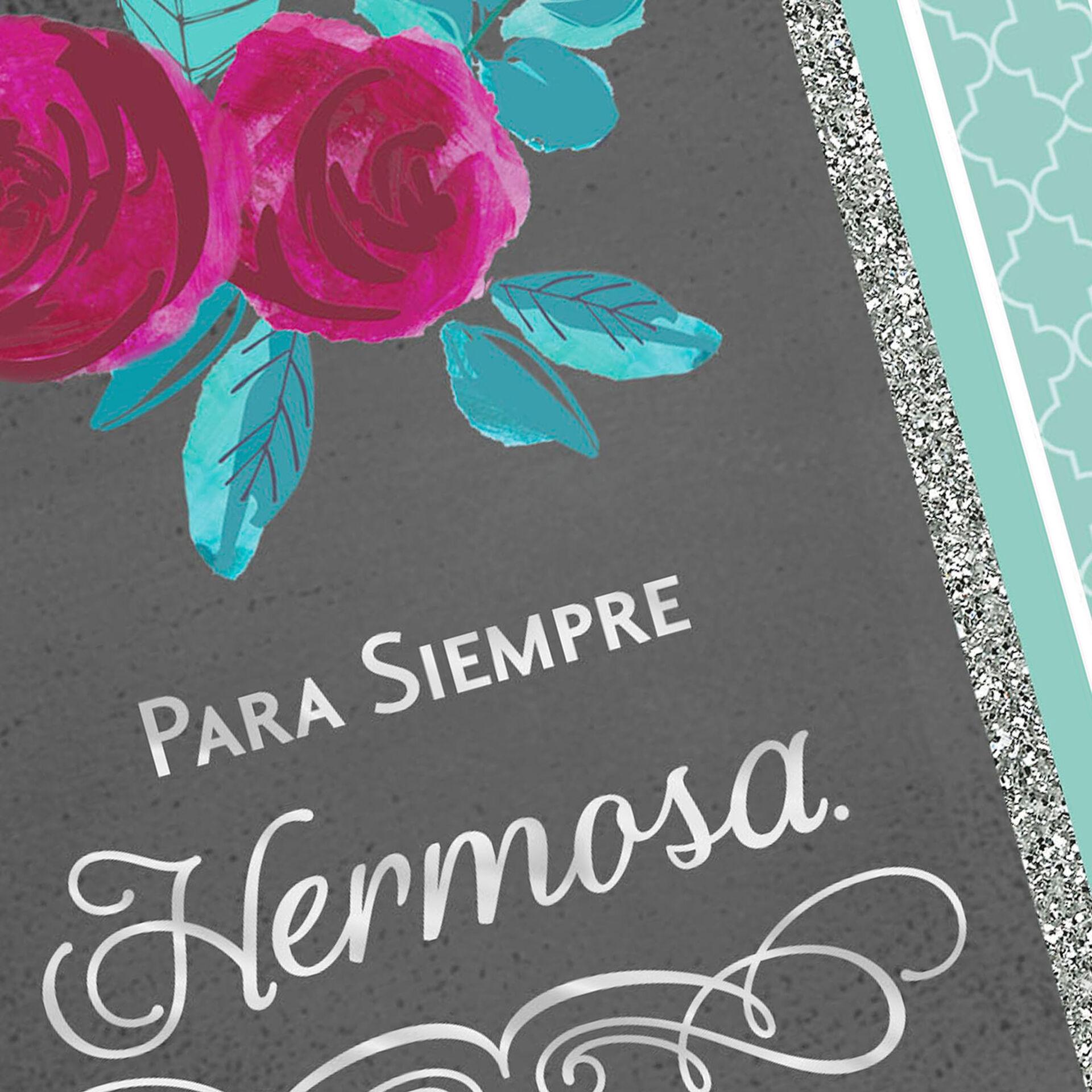 forever beautiful spanishlanguage love card  greeting