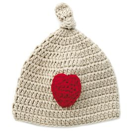 Heart Hand Knitted Baby Hat, 0-12 Months, , large