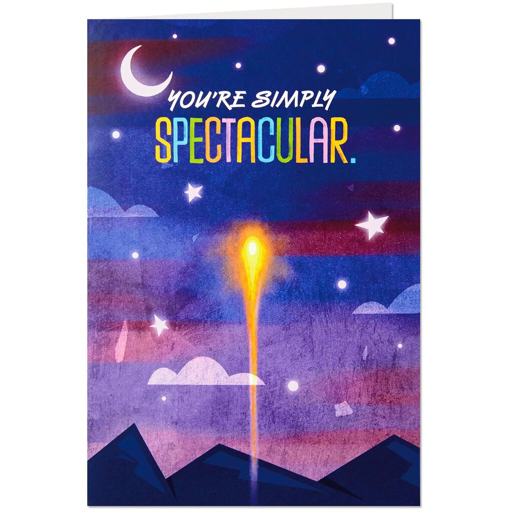 Youre Simply Spectacular Pop Up Musical Birthday Card Greeting