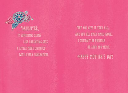 Proud Of You Daughter Mothers Day Card