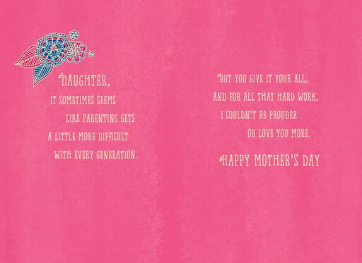 Proud of You, Daughter Mother's Day Card,