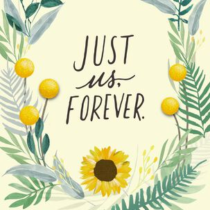 Flower Wreath Just Us Forever Anniversary Card