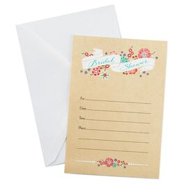 Floral Bridal Shower Invitations, Pack of 10, , large