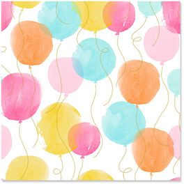 Watercolor Balloons Wrapping Paper Roll, 27 sq. ft., , large