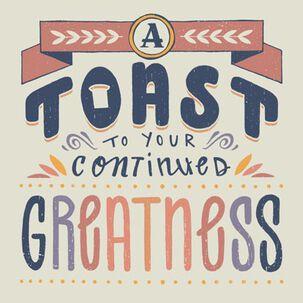 A Toast Blank Congratulations Card