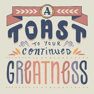 A Toast Blank Congratulations Card,