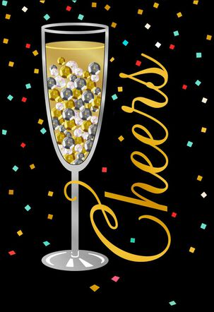 Sequins and Champagne Congratulations Card