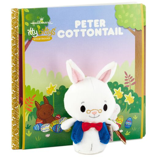 Easter gifts hallmark itty bittys peter cottontail stuffed animal and book set negle Image collections