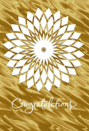 Embossed Mandala Congratulations Card