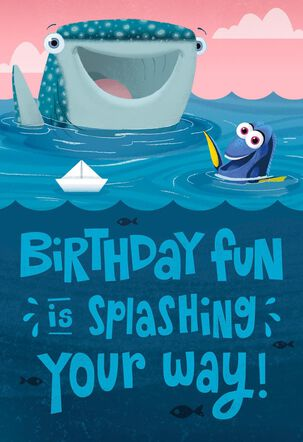 Splashing Your Way Kids Birthday Song Card