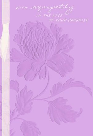 Lilac Flowers Sympathy Card for Loss of Daughter