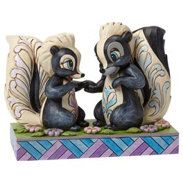 Jim Shore® Love Is in the Air Flower and Miss Skunk Figurine, , large