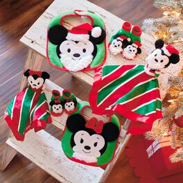 Mickey and Minnie Mouse Baby's First Christmas Set, , large