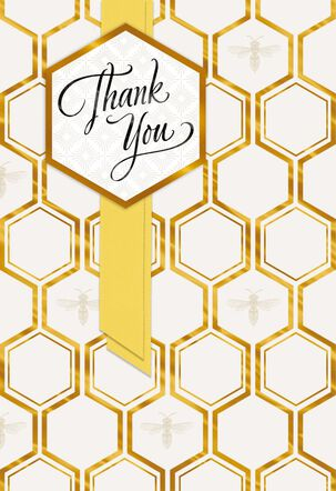 Honeycomb Design Thank You Card