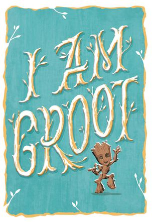 Guardians of the Galaxy I Am Groot Blank Just Because Card