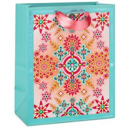 "Catalina Estrada Turquoise and Pink Kaleidoscope Medium Gift Bag, 9.5"", , large"