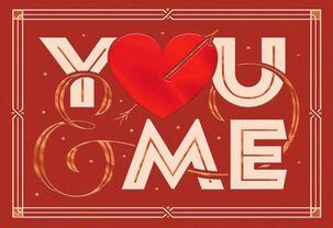 I Like Us Valentine's Day Card
