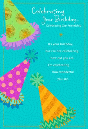 Fun Party Hats Birthday Card for Friend