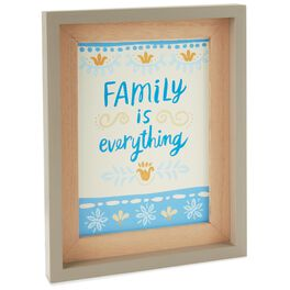 Family Is Everything English Framed Art, , large