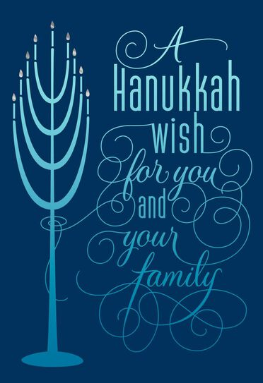 Menorah lights hanukkah card greeting cards hallmark menorah lights hanukkah card m4hsunfo