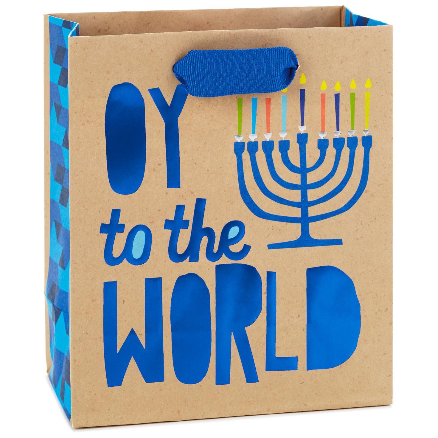 Oy to the World Menorah Small Hanukkah Gift Bag 6.5  - Gift Bags - Hallmark  sc 1 st  Hallmark & Oy to the World Menorah Small Hanukkah Gift Bag 6.5