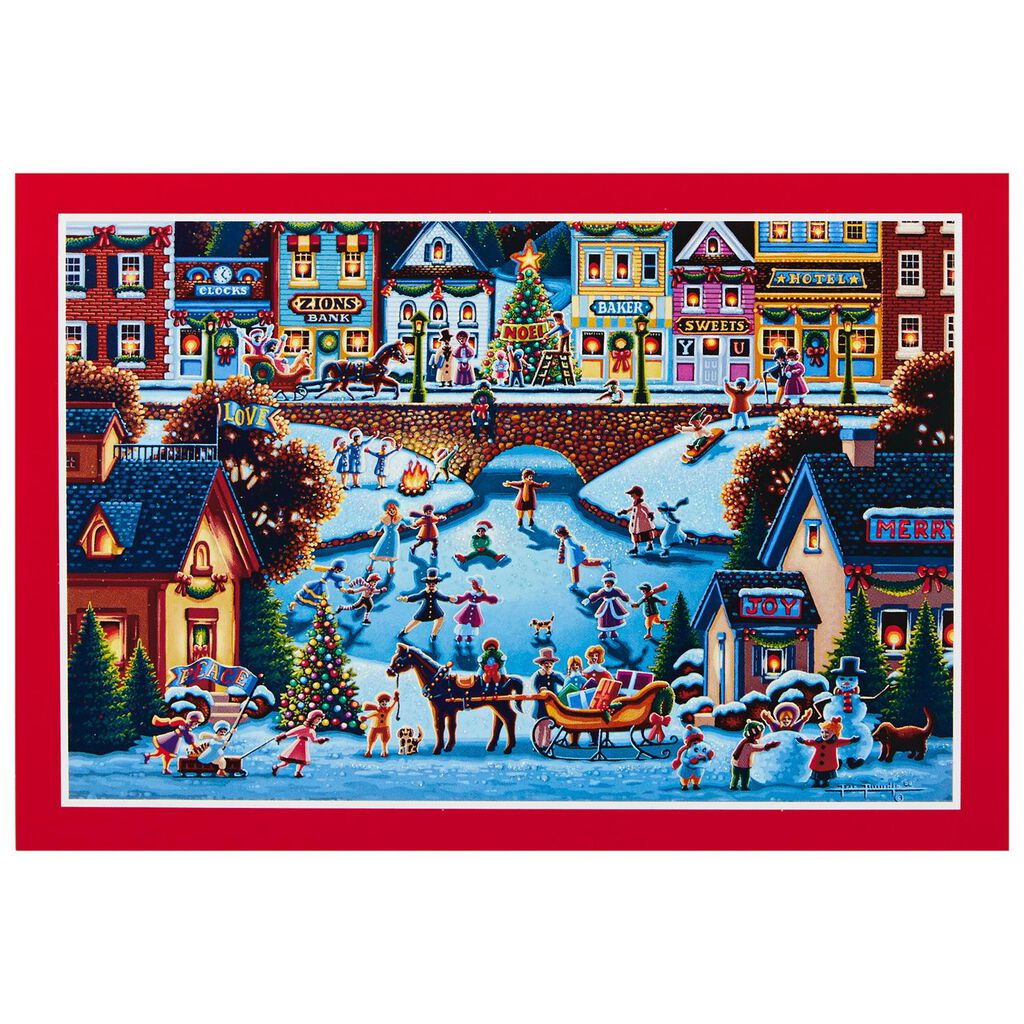 Holiday Americana Christmas Cards, Box of 16 - Boxed Cards - Hallmark
